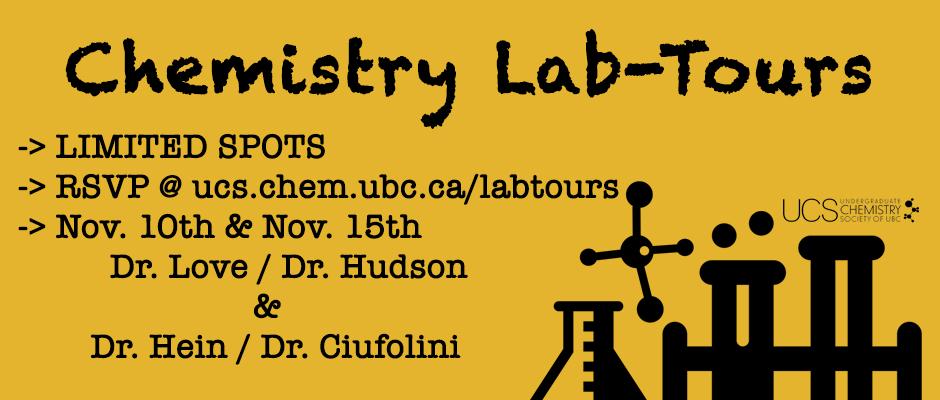 Chemistry Lab Tours - Term 1