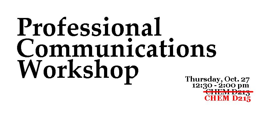 Professional Communications Workshop 2016 - Updated